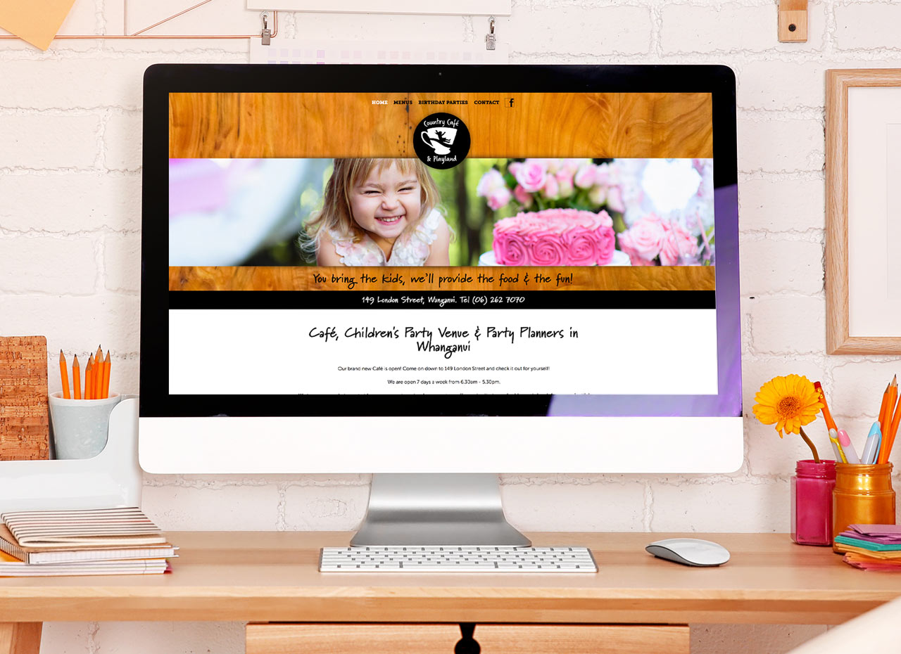 Country Cafe & Playground Website Development